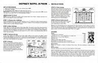 Donkey Kong Junior Atari instructions