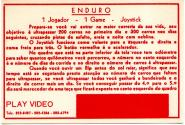 Enduro Atari instructions