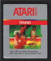RealSports Tennis Atari cartridge scan