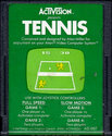 Tennis Atari cartridge scan