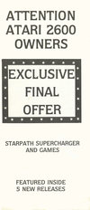Atari 2600 VCS  catalog - Starpath Corporation