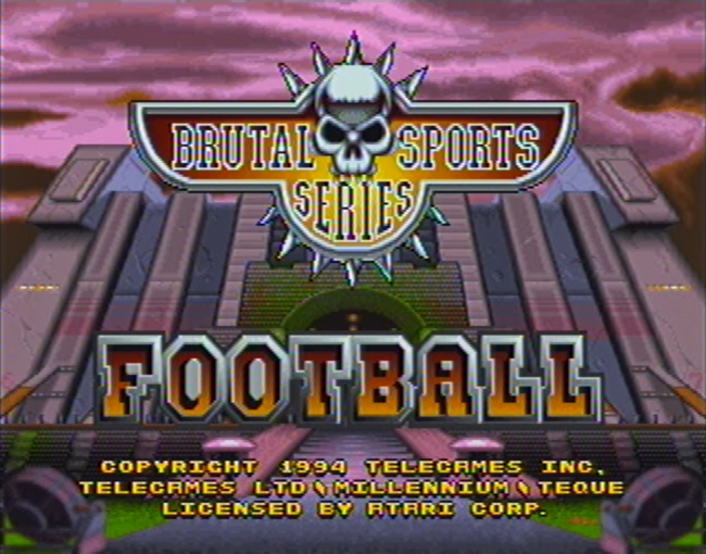 Brutal Sports Football atari screenshot