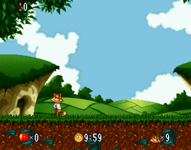 Bubsy in Fractured Furry Tales atari screenshot