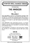 Invoicer (The) Atari ad