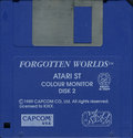 Forgotten Worlds Atari disk scan