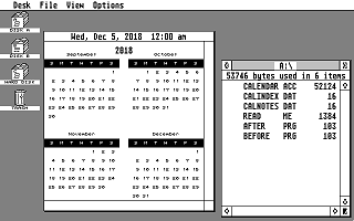 Calendar atari screenshot