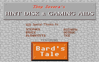 Bard's Tale Hint Disk