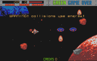 Blasteroids atari screenshot