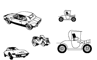 Clip Art Disk 06 - Cars 1 and 2