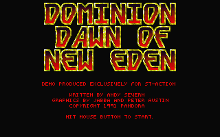 Dominion - Dawn of New Eden