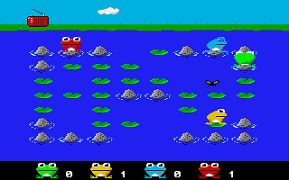 Frogs atari screenshot
