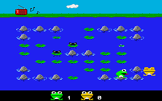Frogs / Zatacka ST atari screenshot