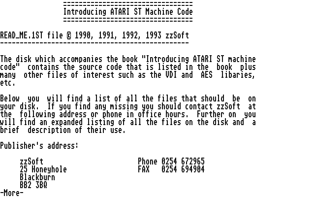 Introducing Atari ST Machine Code