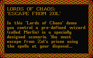 Lords of Chaos - Escape from Zol