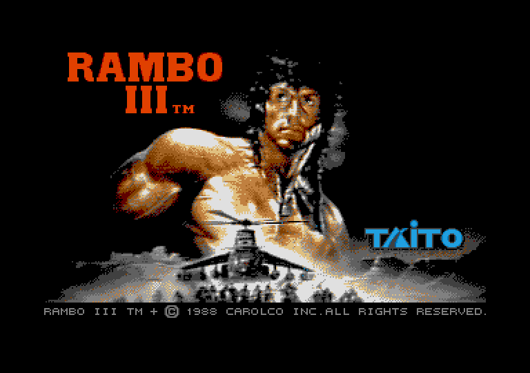 Rambo III atari screenshot