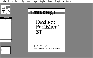 Timeworks Desktop Publisher ST atari screenshot